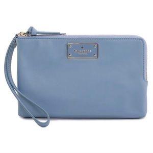 Kate Spade Leoni Wristlet in Cloudcover (462) Blue